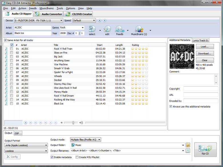 Easy CD-DA Extractor 2010.6