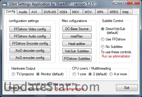 Vista Codec Package 7.0.0
