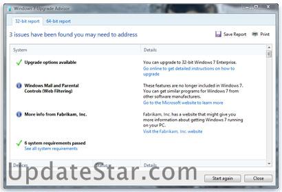 Windows 7 Upgrade Advisor 2.0.5000.0