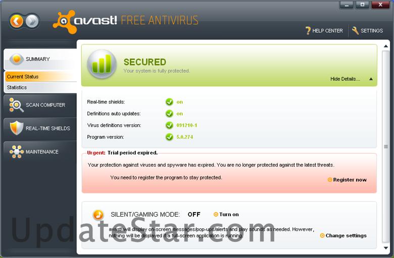 avast! Free Antivirus 18.6.2349