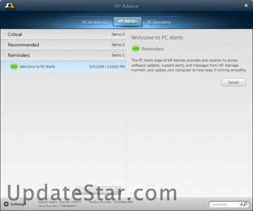 HP Advisor 3.4.12850.3526