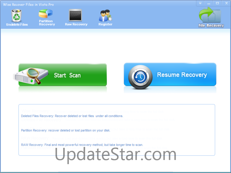 Wise Recover Files In Vista Pro
