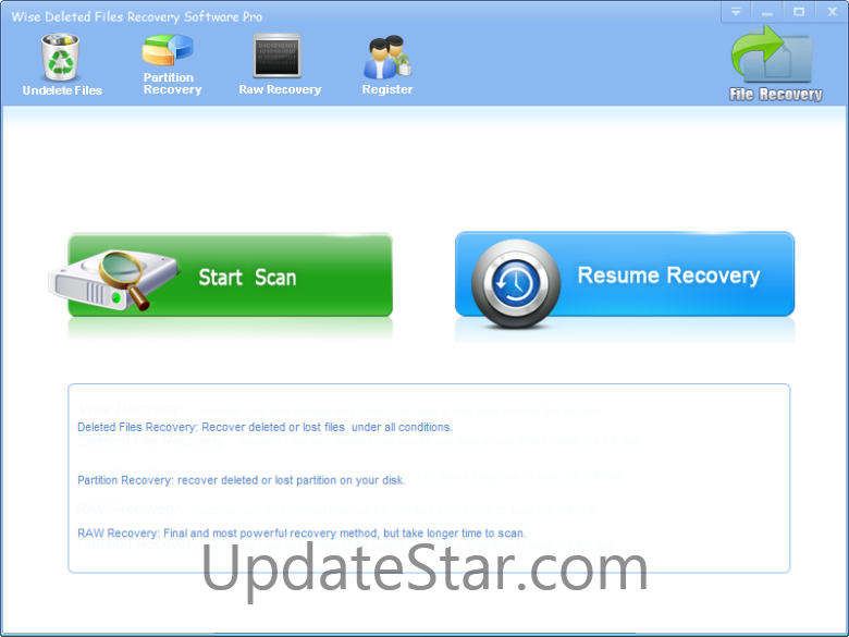 Wise Deleted Files Recovery Software Pro
