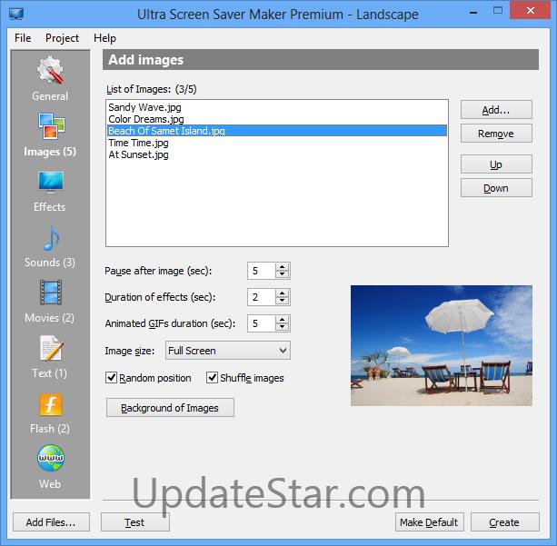 Ultra Screen Saver Maker 3.6.3