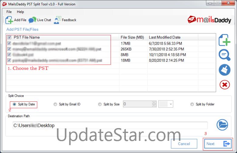 MailsDaddy PST Split Tool 1.0
